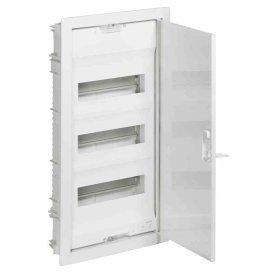 Automatinių išjungiklių skydelis LEGRAND NEDBOX, 36 + 6 modulių, įleidžiamas, baltas su baltomis metalinėmis durelėmis, IP40, 001433