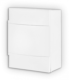 Automatinių išjungiklių skydelis LEGRAND PRACTIBOX S, 4 modulių, paviršinis, baltas su baltomis durelėmis, IP40, 134104