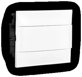 Automatinių išjungiklių skydelis LEGRAND PRACTIBOX S, 12 modulių, įleidžiamas, baltas su baltomis durelėmis, komplekte su kontaktinėmis kaladėlėmis nuliui ir įžeminimui, IP40, 135141