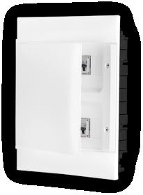 Automatinių išjungiklių skydelis LEGRAND PRACTIBOX S, 24 modulių, įleidžiamas, baltas su baltomis durelėmis, komplekte su kontaktinėmis kaladėlėmis nuliui ir įžeminimui, IP40, 135142