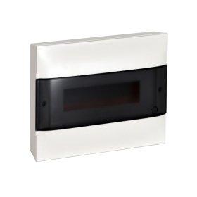 Automatinių išjungiklių skydelis LEGRAND PRACTIBOX S, 12 modulių, paviršinis, baltas su skaidriomis durelėmis, komplekte su kontaktinėmis kaladėlėmis nuliui ir įžeminimui, IP40, 135211