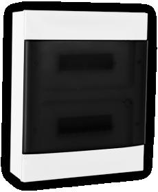 Automatinių išjungiklių skydelis LEGRAND PRACTIBOX S, 24 modulių, paviršinis, baltas su skaidriomis durelėmis, komplekte su kontaktinėmis kaladėlėmis nuliui ir įžeminimui, IP40, 135212