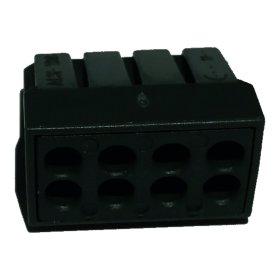 Jungtis laidams  ACN-108, 5 vnt. 8 x 2,5 mm, juoda