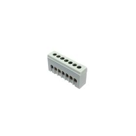 Kontaktinė kaladėlė MOREK MAD1007A15, 7 vietų, fazinis, A7H, 7 x 16 mm², IP20, pilkos spalvos