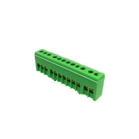 Kontaktinė kaladėlė MOREK MAD1012G15, 12 vietų, įžeminimo, PE12H, 12 x 16 mm², IP20, žalios spalvos
