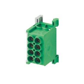 Paskirstymo gnybtas MOREK MAG1250G32, MAG25-2,  4 x 25 mm², žalios spalvos