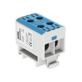 Gnybtas MOREK MAA2035B10, OTL35-2, 2xAl/Cu, 2,5 - 35 mm², 1000 V, mėlynos spalvos