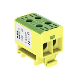 Gnybtas MOREK MAA2035Y10, OTL35-2, 2xAl/Cu, 2,5 - 35 mm², 1000 V, geltonos/žalios spalvos