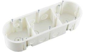 Montažinė dėžutė PL(16), 44 mm, g/k, 3 vietų, 0009110