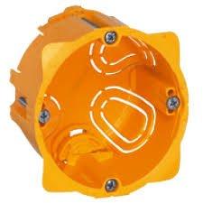 Montažinė dėžutė LEGRAND g/k, 1 vietos, oranžinės spalvos, 080051