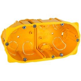 Montažinė dėžutė LEGRAND g/k, 2 vietų, oranžinės spalvos, 080052