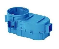 Montažinė dėžutė SIMET SE2x60, 60 mm, g/k, nepalaiko degimo, IP20, mėlynos spalvos