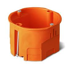 Montažinė dėžutė, 60 mm, g/k, oranžinės spalvos