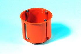 Montažinė dėžutė, 60 mm, g/k, pagilinta, oranžinės spalvos