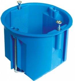 Montažinė dėžutė, 60 mm, g/k, pagilinta, nepalaiko degimo, mėlynos spalvos