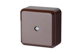 Paskirstymo dėžutė LIREGUS PMD, paviršinė, 60 x 60 mm, rudos spalvos, 60x60R