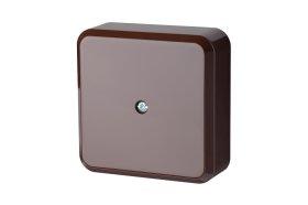 Paskirstymo dėžutė LIREGUS PMD, paviršinė, 81 x 81mm, rudos spalvos, 81x81R
