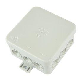 Paskirstymo dėžutė N5, paviršinė, 75 x 75 x 39 mm, IP54, pilka