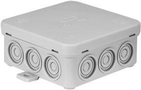 Paskirstymo dėžutė N6, paviršinė, 85 x 85 x 39 mm, IP54, pilka