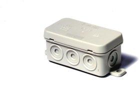 Paskirstymo dėžutė N8, paviršinė, 75 x 37 x 39 mm, IP54, pilka