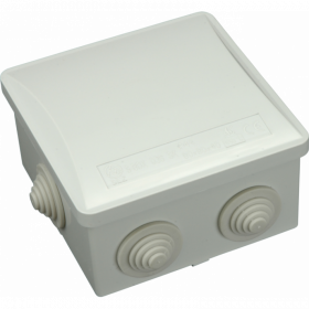 Paskirstymo dėžutė SBOX, paviršinė, 80 x 80 x 40 mm, guma, IP44