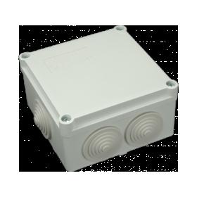 Paskirstymo dėžutė paviršinė, 100 x 100 x 50 mm, guma, IP55, SEZ