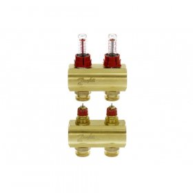 """Grindinio šildymo kolektorius, DANFOSS SSM-2F 1"""", 2 žiedų, reguliuojamas, plieninis su debitomačiais, 088U0752"""