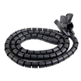 Vamzdis laidams ELECTRALINE FLEX, 25 mm, 1,8 m, juodos sp., 60042
