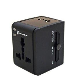 Adapteris ELECTRALINE, kelioninis, su USB, 70015