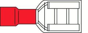Laido antgalis ELECTRALINE, plokščias lizdas, 6,35 mm, raudonos sp., 10 vnt., 962289