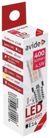 LED lempa AVIDE 4,5W (=39W), E14 JD, WW, 3000K, 220-240V, 400 lm, 220°, 25.000 val