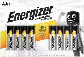 Maitinimo elementai ENERGIZER ALKALINE POWER, 8 vnt., AA LR6, N