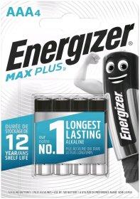 Maitinimo elementai  ENERGIZER MAX PLUS, 4 vnt., AAA LR03, E92 BP4 CEE