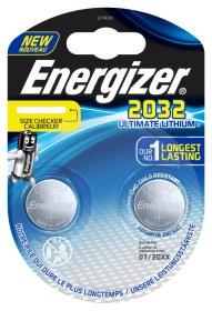 Maitinimo elementai ENERGIZER ULTIMATE LITHIUM PERFORMANCE, 2 vnt., CR2032, BP2