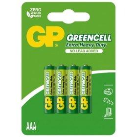 Maitinimo elementai GP GREENCELL, 4 vnt. AAA, R03, 1,5V,