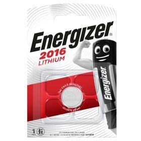 Maitinimo elementai ENERGIZER  CR2016, LITHIUM, 1 vnt. ENERGIZER 1 vnt. CR2016, LITHIUM