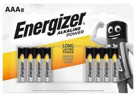 Maitinimo elementai ENERGIZER ALKALINE POWER, 8 vnt., AAA LR03