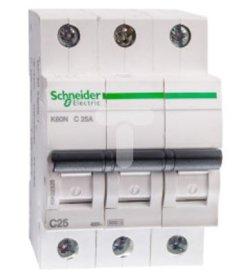 Automatinis išjungiklis SCHNEIDER, 3P, 25 A, 6 kA, K60N, C, 16-4-A9K02325