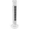 Pastatomas ventiliatorius NHC FT-514, aukštis 80 cm, 45W, 3 galingumo lygiai, baltos spalvos