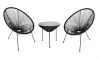 Kėdė NOVELLY HOME SC - 093KD, plienas, sintetinis ratanas, juoda, matmenys: 72 x 67 x 86 cm., maks. apkrova iki 120kg