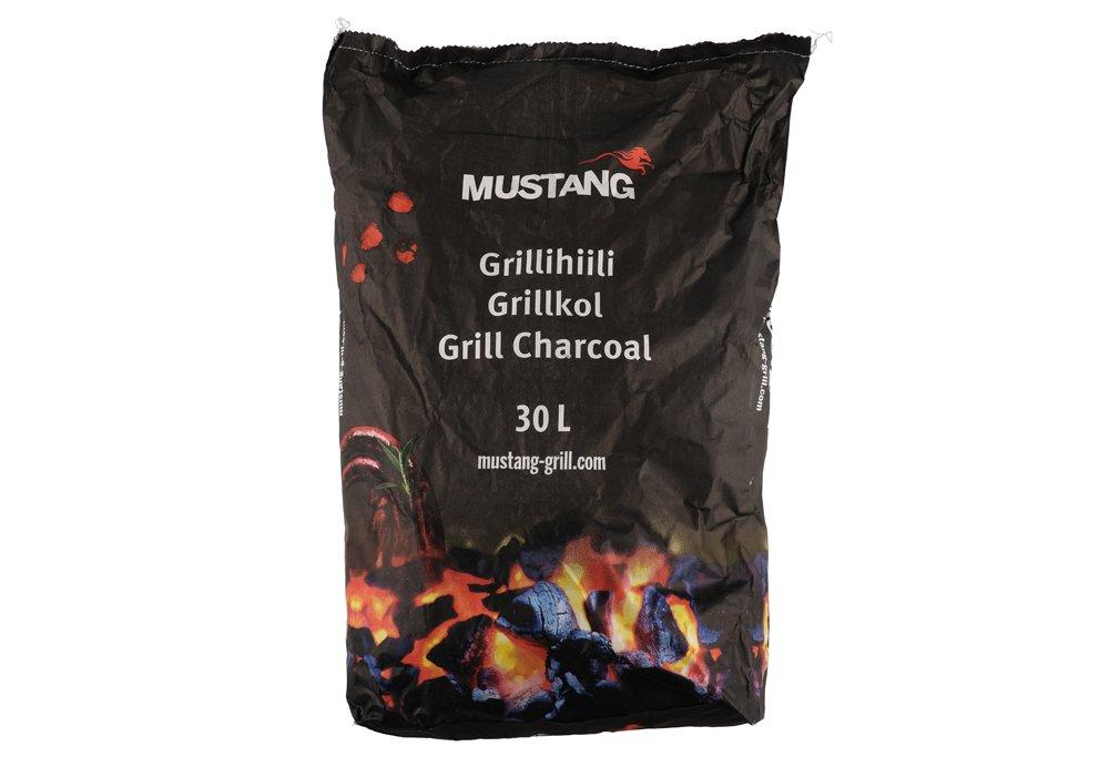 Medžio anglis MUSTANG BBQ, 30 l., 5 kg.