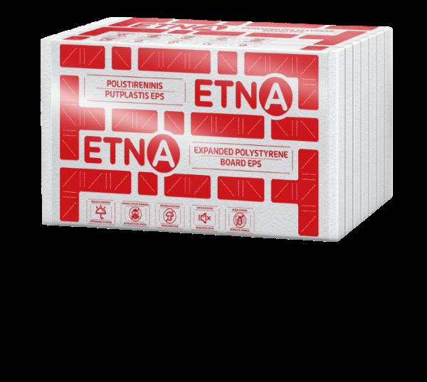 Polistireninis putplastis  ETNA EPS 80 Matmenys 100 x 600 x 1200 mm, 1pak. - 0,432 m3