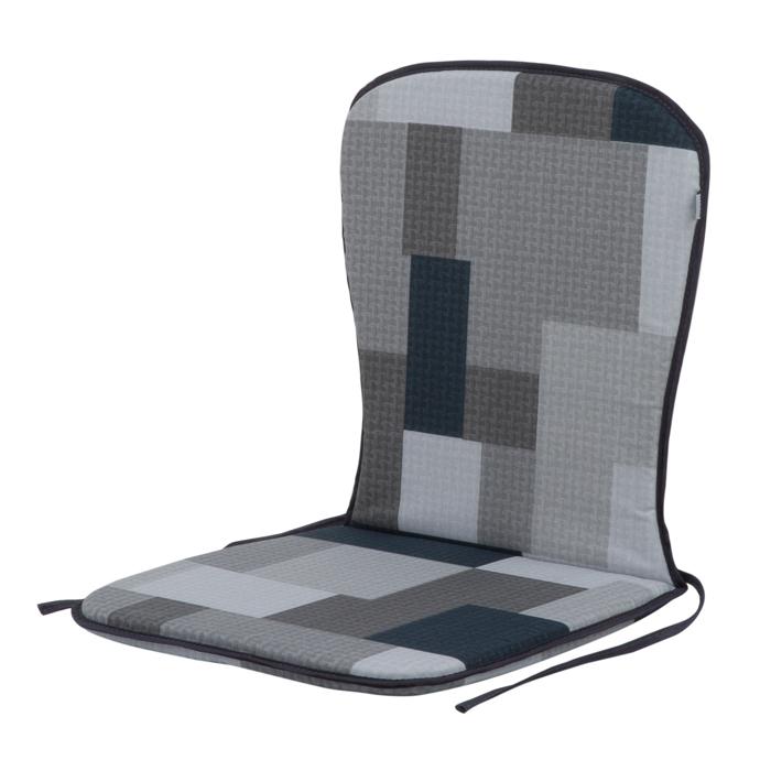 Pagalvelė kėdei PATIO Sam B019-06PB, 74x38x2cm, tekstilė, pilka
