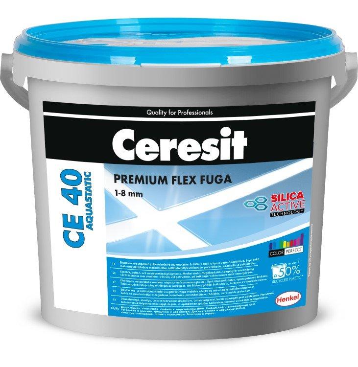 Plytelių tarpų glaistas CERESIT CE40 AQUASTATIC Silver 04, 5 kg