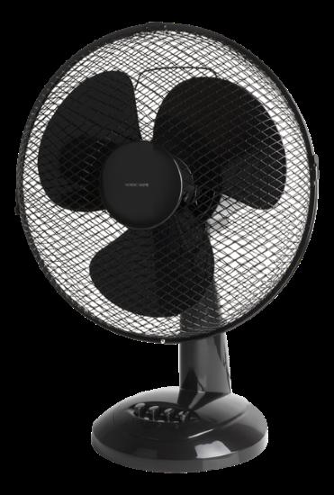 Stalinis ventiliatorius NHC FT-533, 31 cm, 40W, 3 galingumo lygiai, plastikas, juodos spalvos
