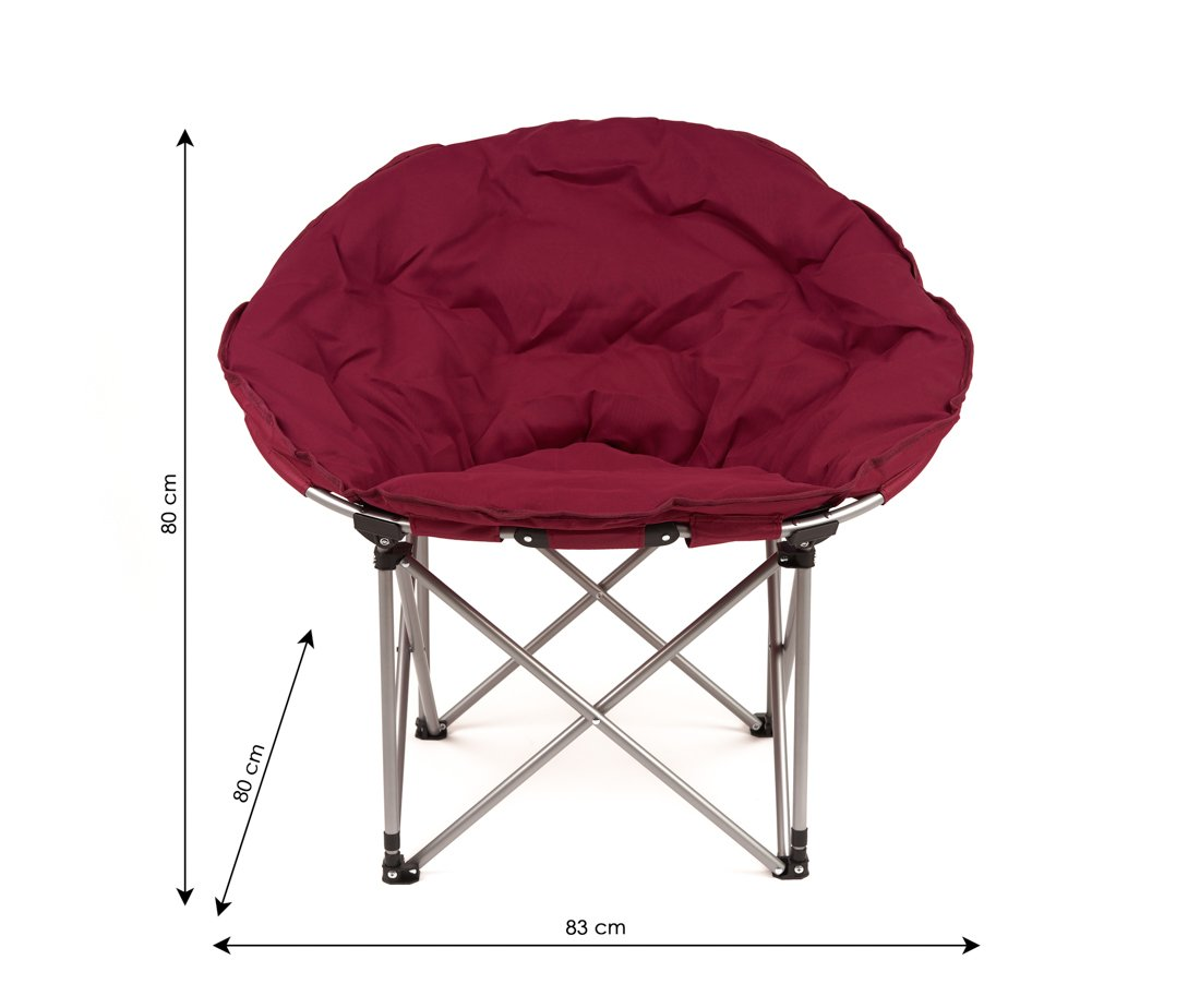 Sulankstoma turistinė kėdė XY - 145D3, metalinė, medvilnė, tamsiai raudona, 83 x 37 x 80 cm.