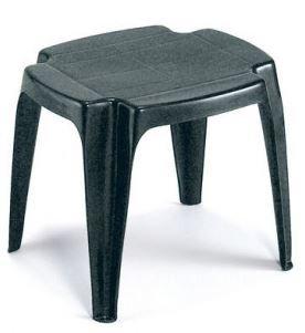 Plastikinė taburetė CALYPSO antracito spalvos, maks. apkrova iki 12kg