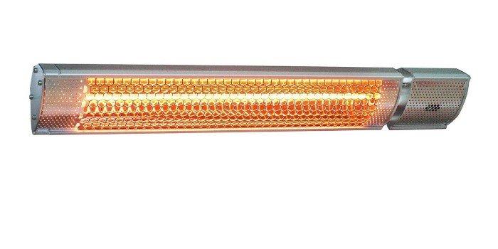 Infraraudonųjų spindulių šildytuvas 4IQ  PLUTO, su nuotolinio valdymo pultu, sidabro spalvos, IP65