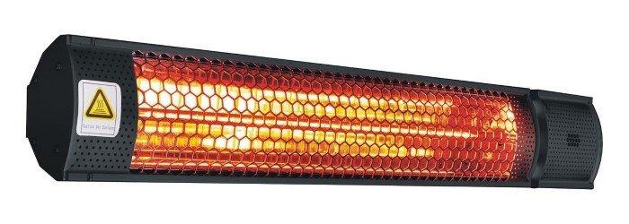 Infraraudonųjų spindulių šildytuvas 4IQ  PLUTO, su nuotolinio valdymo pultu, juodos spalvos, IP65