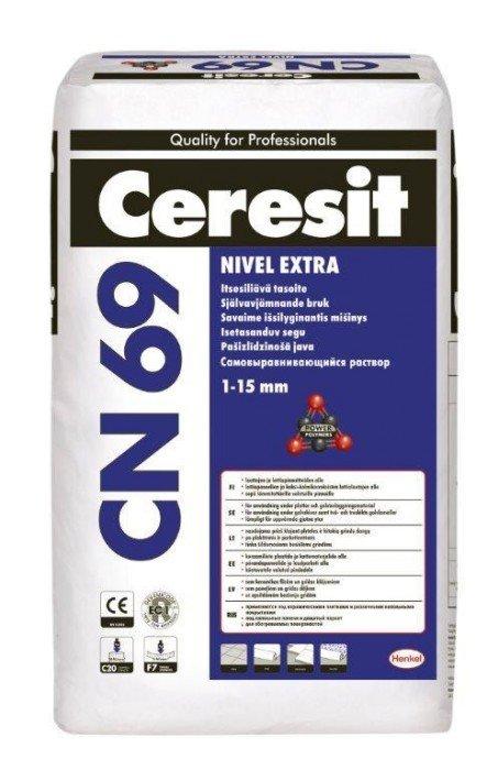 Savaime išsilyginantis grindų mišinys CERESIT CN 69, 1-10 mm, 25 kg